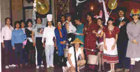 Halloween party at LK Association, 1982.