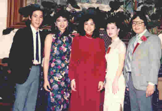 Rolando Kuan, Rose Chung (center), Clifford Pong
